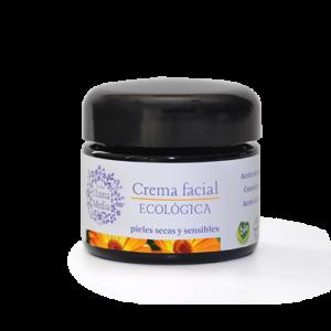 Crema facial ecológica pieles secas y sensibles